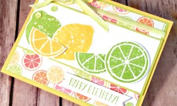 Refreshing Birthday Card featuring #LemonZest, #TuttiFrutti, #Birthday, #SecretsToStamping, #StampinUp