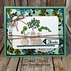 Pretty Thank You Card Featuring #VariedVases, #ShareWhatYouLove, #SecretsToStamping, #StampinUp