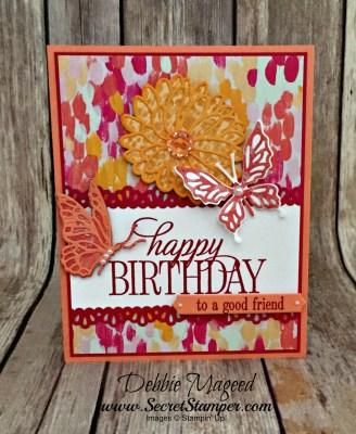Happy Birthday, Everyone Makes Garden Impressions for Retro Rubber