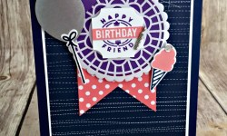 Fun Birthday Card Featuring #DarlingLabel, #BroadwayBirthday, #Birthday, #Kids, #SecretsToStamping, #StampinUp