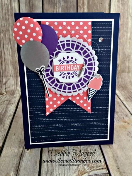 Darling label punch box bundle celebrates a broadway birthday with darling label punch box bundle celebrates a broadway birthday with hand stamped sentiments m4hsunfo