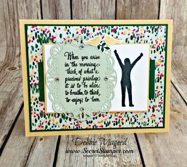 Sweet Card Featuring #EnjoyLive, #GardenImpressions, #BackToSchool, #Kids, #SecretsToStamping, #StampinUp