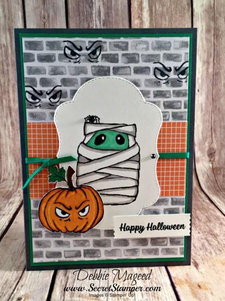Spooky Halloween Card Featuring #JarOfHaunts, #SpookyCat, #Halloween, #StitchedSeasons, #SecretsToStamping, #StampinUp
