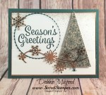 Fun Holiday Card Featuring #SnowflakeSentiments, #SnowIsGlistening, #SnowfallThinlits, #Christmas, #Holiday, #SecretsToStamping, #StampinUp