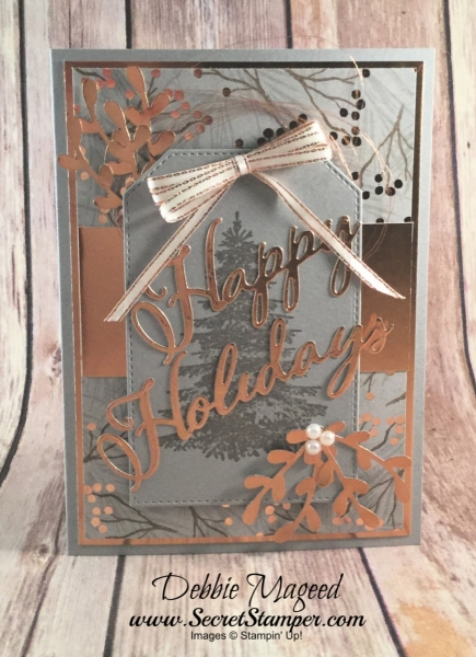 Nontraditional Holiday Card Featuring #WinterWoods, #MerryChristmasToAll, #Christmas, #SecretsToStamping, #StampinUp