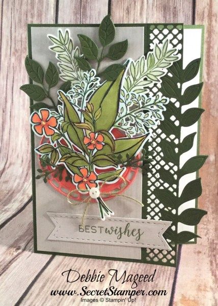 Wonderful Romance Birthday Card Featuring Wonderful Romance Stitched All Around Very Vintage #Birthday #OccasionsCatalog #SecretsToStamping #StampinUp