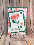 Sweet Floral Birthday Card Featuring #BloombyBloom, #HummingAlong, #Birthday, #OccasionsCatalog, #SecretsToStamping, #StampinUp