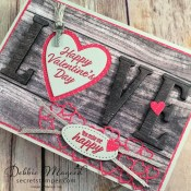 How to Make a Musculine Valentines Card With Meant to Be for Hand Stamped Sentiments