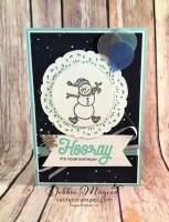 Fun Winter Birthday Card Featuring Spirited Snowmen and Broadway Birthday, #Birthday #SecretsToStamping #StampinUp