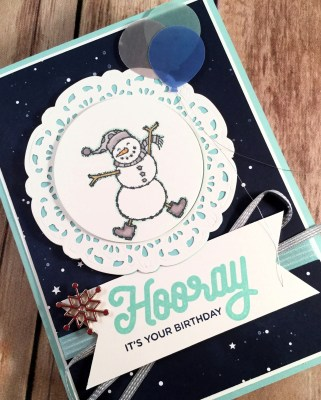 Spirited Snowmen Celebrate Winter Birthdays for the Make My Monday Challenge