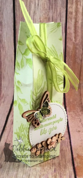 Pretty Gift Bag using Part of My Story Stamp Set by Stampin' Up!