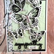 A Butterfly Beauty Sympathy Card for the Alphabet Challenge