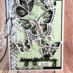 Sympathy Card Featuring Butterfly Beauty Thinlits and Well Said Stamp Set