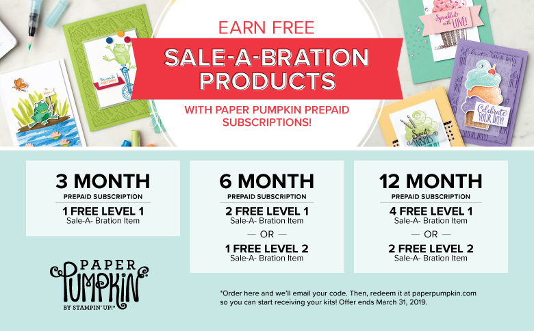 Fun and FREE Products with Paper Pumpkin Subscriptions by Stampin' Up!