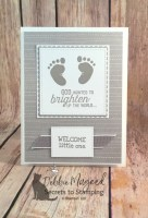 How to Use First Steps to make a Timeless Baby Card for Cardz 4 Galz