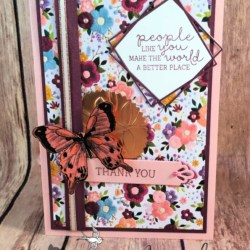 Beautiful Thank You Card featuring Needle & Thread Stamp Set