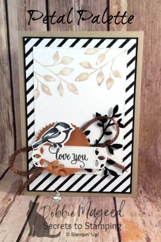 Lovely Valentine Card Using Petal Palette Stamp Set by Stampin' Up!
