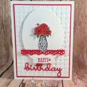 Birthday Wishes with Vibrant Vases for the Sisterhood of Crafters