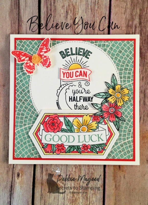 Graduation or Encouragement Card using Believe You Can Stamp Set by Stampin' Up!