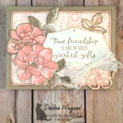 Vintage Friendship Card to a Wild Rose for the Alphabet Challenge