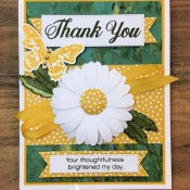 Daisy Delight Thank You Card for Hand Stamped Sentiments