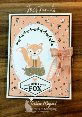 Foxy Friends All Occasion Card for Cardz 4 Galz