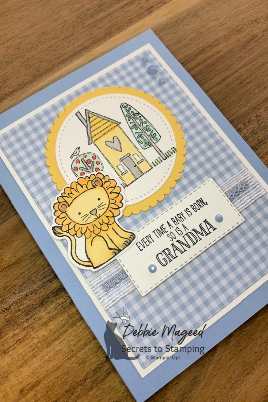 Adorable Baby Card Featuring Grandma's House by Stampin' Up!