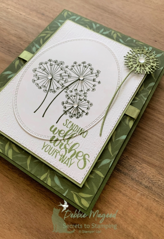 Pretty Birthday Card Featuring Dandelion Wishes by Stampin' Up!