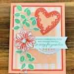 Floral Essence Sympathy Card for Hand Stamped Sentiments