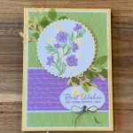 Path of Petals Birthday Card for Hand Stamped Sentiments