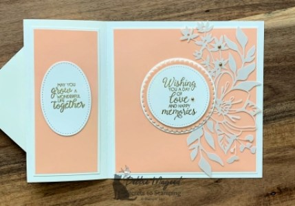 Elegant Wedding Card Using Beautiful Bouquet Stamp Set by Stampin' Up!
