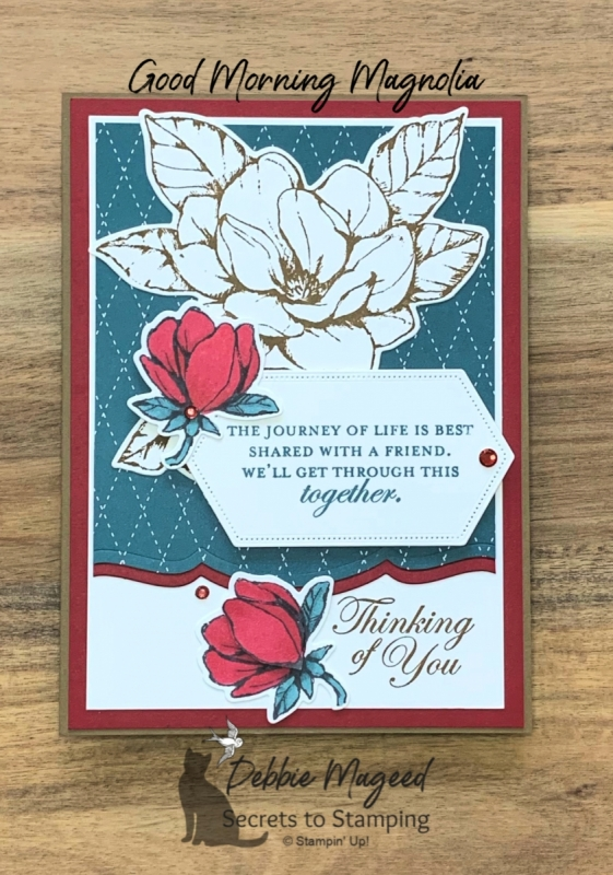 Elegant Friendship Card using Good Morning Magnolia by Stampin' Up!