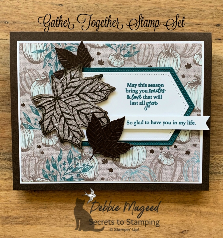Rustic Thanksgiving Card Using Gather Together by Stampin' Up!