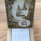 Sailing Home Calendar Easel Card for Cardz 4 Galz