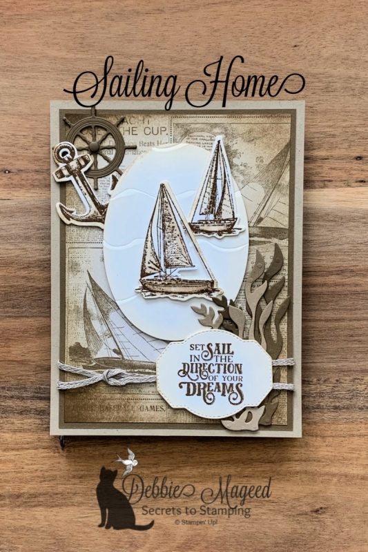 Calendar Easel Card Featuring Sailing Home by Stampin' Up!