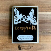 Elegant Black & Bling Wedding Card to Have and to Hold for Cardz 4 Galz