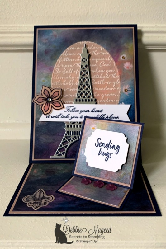 Double Easel Card Featuring Parisian Beauty Stamp Set by Stampin' Up!
