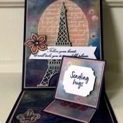 An Alternative Parisian Beauty Double Easel Card for Fun Fold Friday