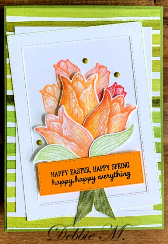 Floral Easter Card Featuring Timeless Tulips by Stampin' Up!