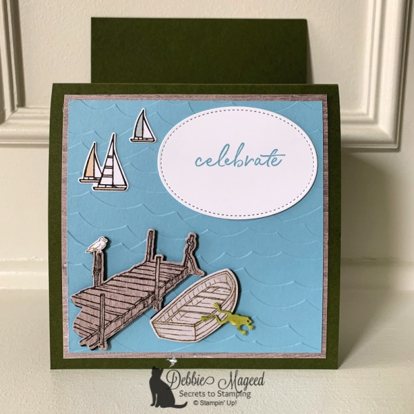 Masculine Card Using Mountain Air and By The Dock by Stampin' Up!