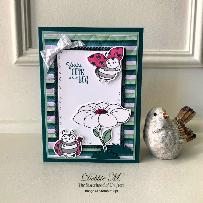 Sweet Card Featuring Little Ladybug Stamp Set by Stampin' Up!