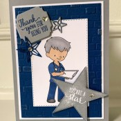 Thank You Card with Morning Star by Stampin