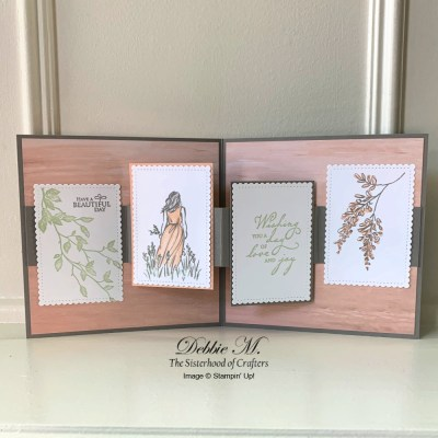 Easy Fun Fold Card for Wonderful Moments with the Sisterhood of Crafters