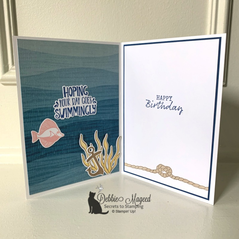 Birthday Card Using Seaside Notions Stamp Set by Stampin' Up!