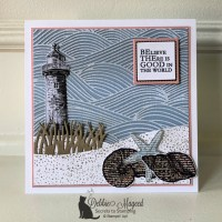 Beach Card Featuring By the Seashore by Stampin