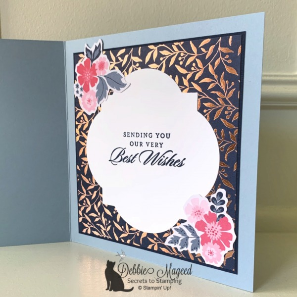 Wedding Card Featuring Everything Is Rosy Product Medley by Stampin' Up!
