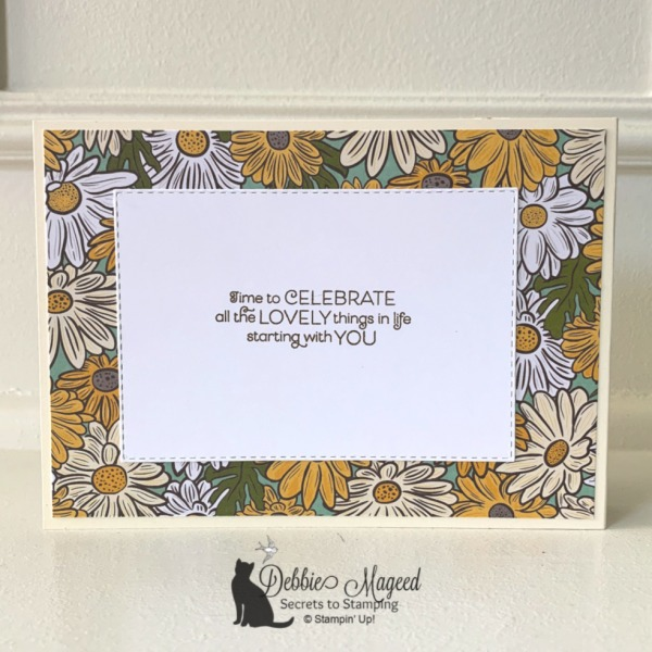 Fun Fold Card Featuring Everything Is Rosy by Stampin' Up!