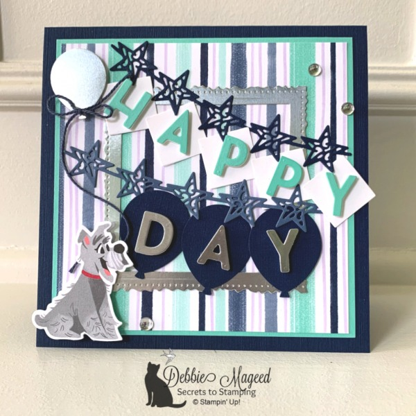 Fun Birthday Card Featuring Playful Pets Suite by Stampin' Up!