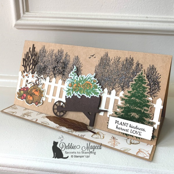 Slimline Easel Card with Autumn Goodness by Stampin' Up!