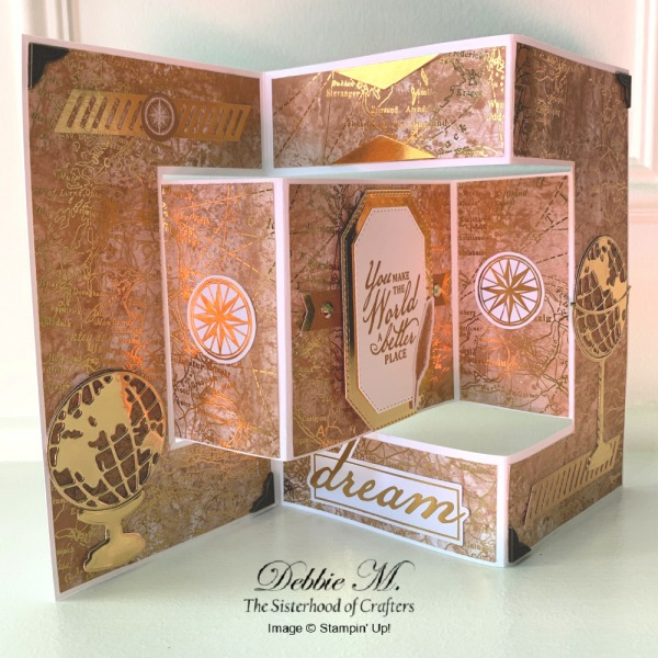Masculine Shutter Card Featuring Beautiful World by Stampin' Up!